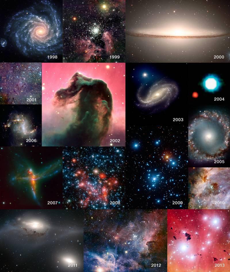 Imágenes captadas por el VLT a lo largo de 15 años.