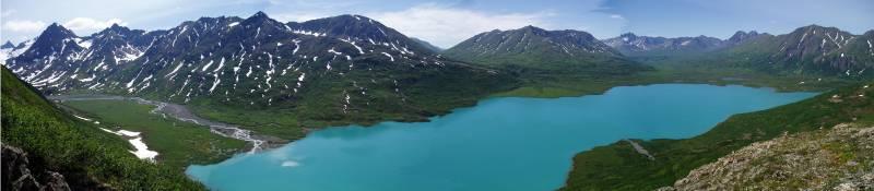Lago Cascade en Alaska (EE UU).