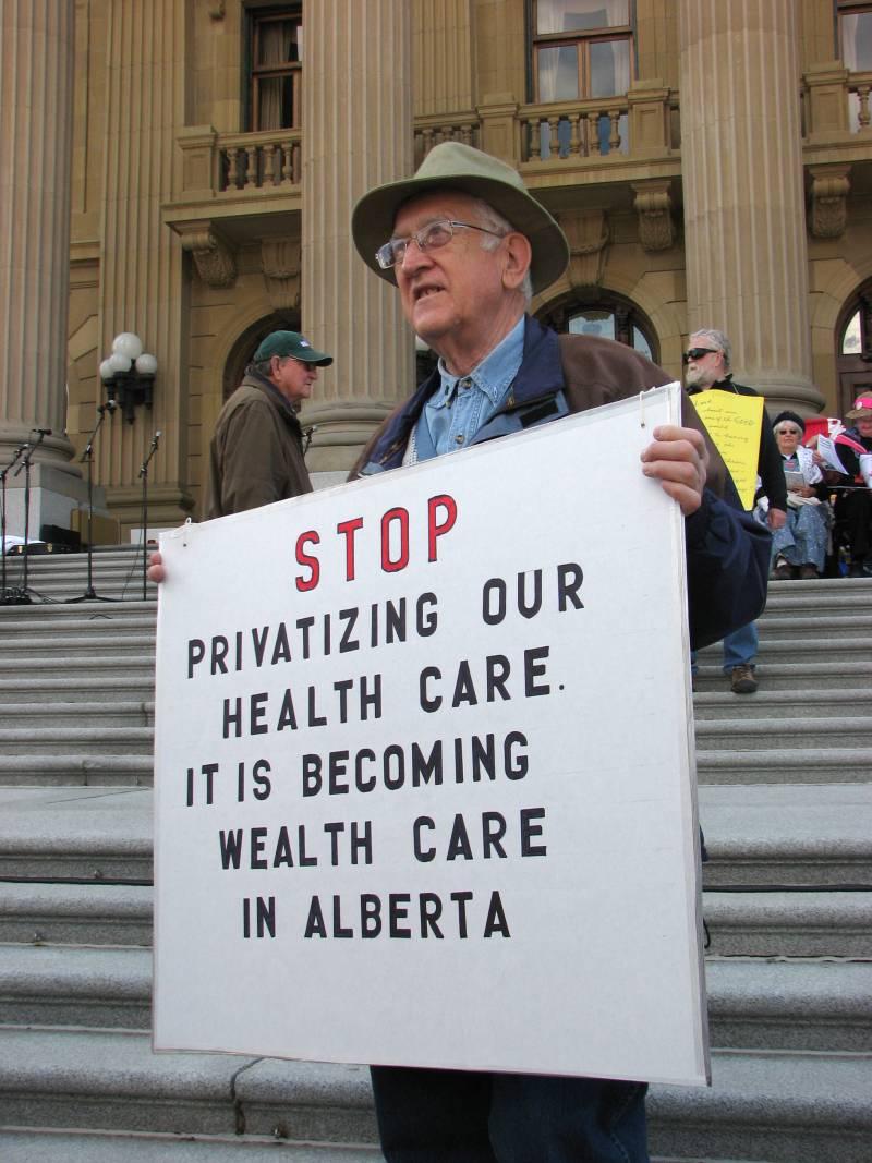 En la imagen, una manifestación a favor del Medicare, el programa de seguro de salud del gobierno norteamericano para personas mayores de 65 años.