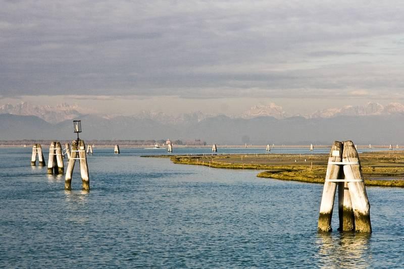 Alrededores de la ciudad de Venecia. El norte del Adriático es una zona vulnerable al cambio climático por la subida del nivel del mar.
