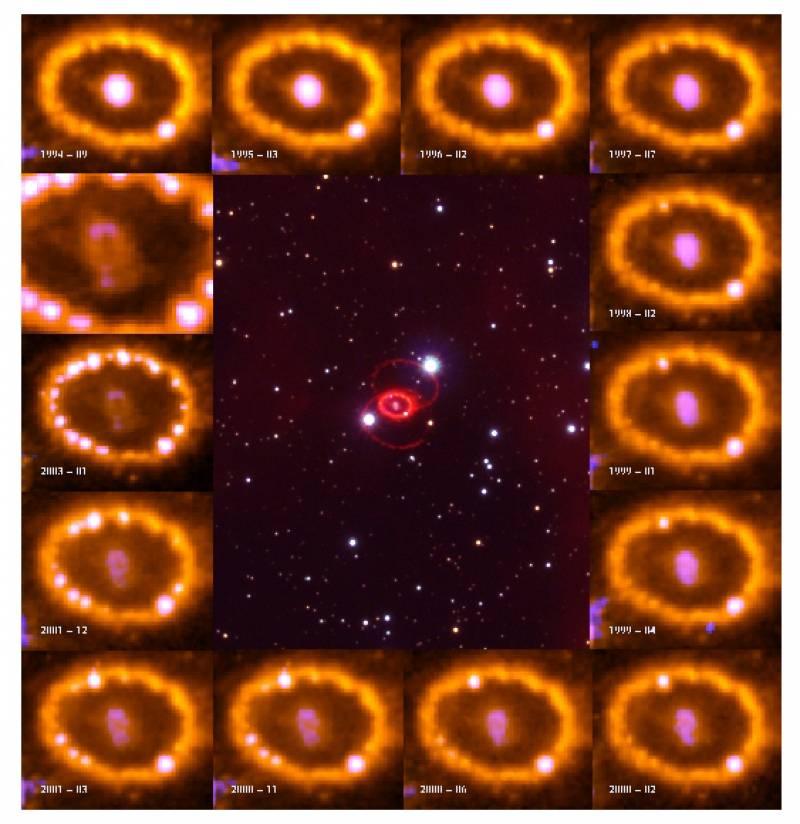 Retratan la evolución de una explosión estelar