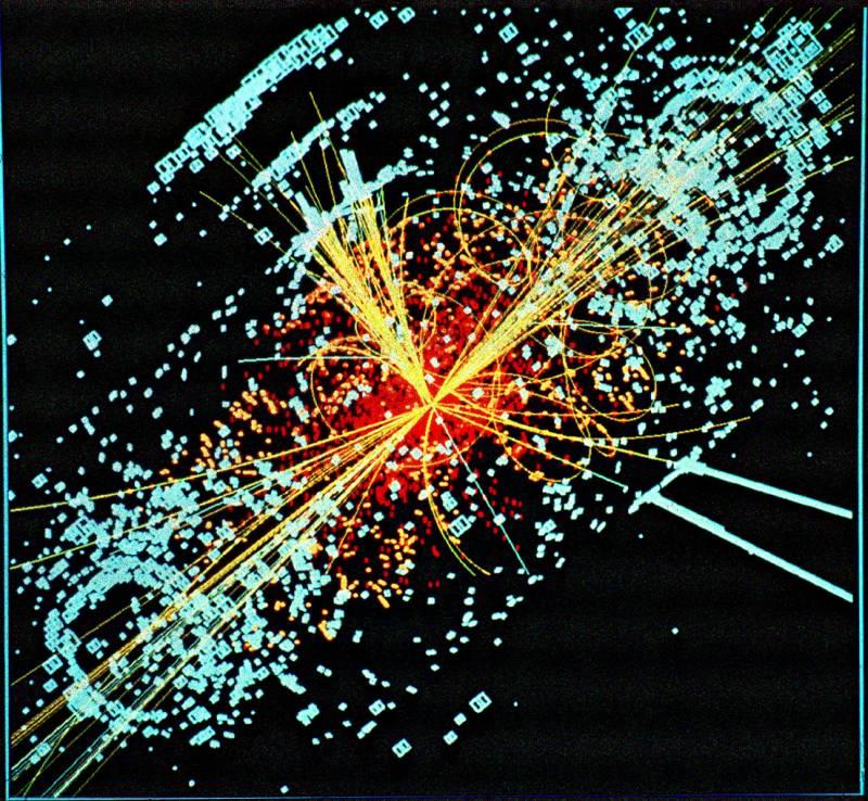 Simulación de la desintegración de un bosón de Higgs. Imagen: CERN/CMS.