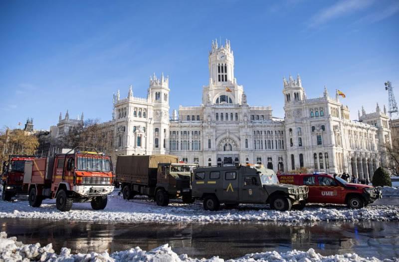 Madrid bajo la nieve
