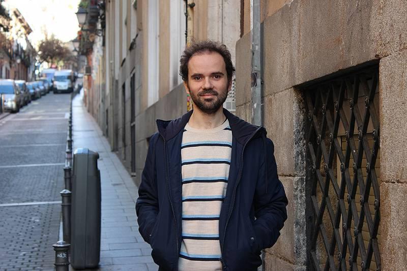 Mickaël Launay en su visita a España