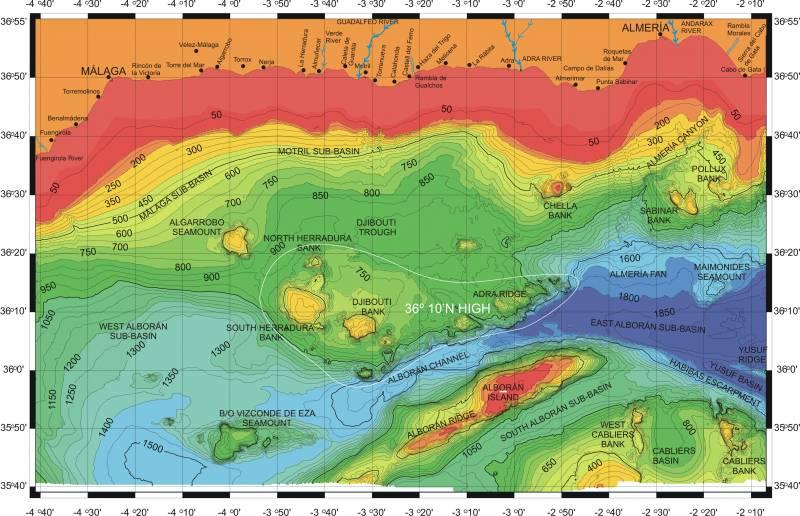 Nuevas fallas activas bajo el mar de Alborán (I)