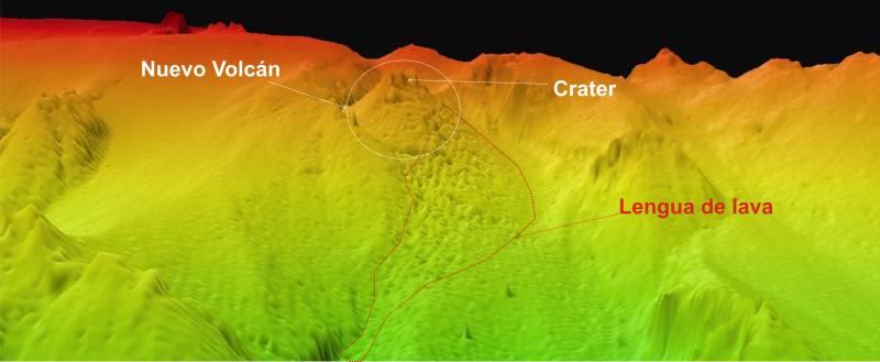 Cartografían el nacimiento del volcán submarino de El Hierro