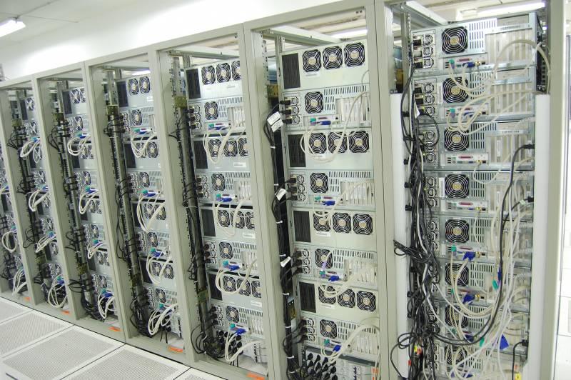 Granja de ordenadores del Centro de Cálculo del CERN