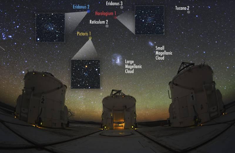 Distribución de las nueve galaxias enanas desconocidas que orbitan alrededor de la Vía Láctea. / Carnegie Observatories
