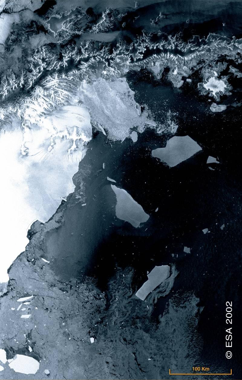 Desprendimiento de hielo en la Antártida