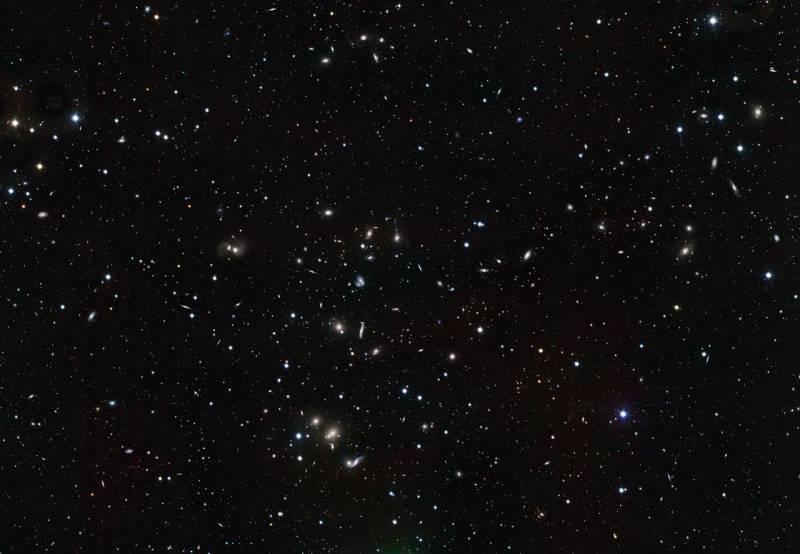 Detectan colisiones de galaxias en el cúmulo de Hércules