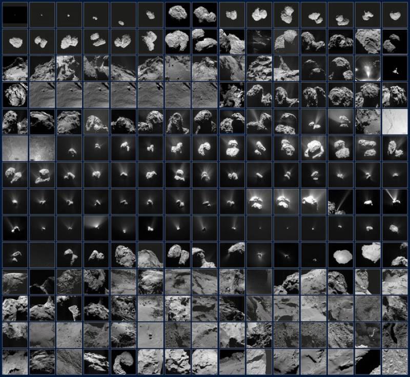 El cometa 67P visto en 210