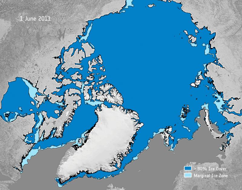El deshielo en el Ártico abre dos grandes rutas de navegación