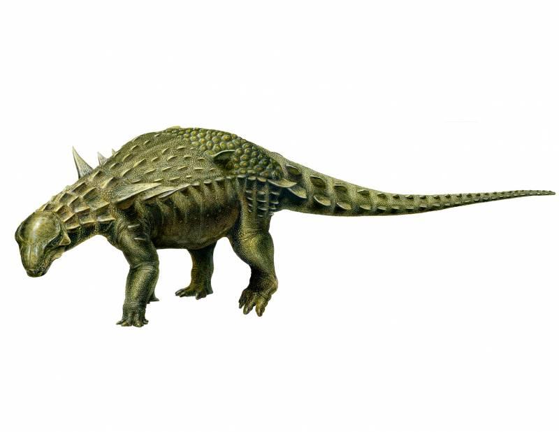 Reconstrucción del dinosaurio acorazado más completo de Europa (Ariño, Teruel). / Lukas Panzarin