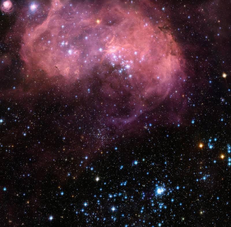 """El Hubble capta una colosal """"burbuja"""" de formación estelar"""