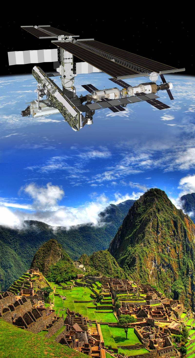 El Machu Picchu contacta con la Estación Espacial Internacional