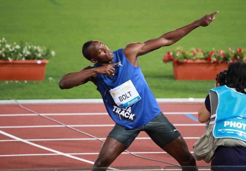 El jamaicano Usain Bolt en unas de las últimas competiciones –Diamond League– celebrada en Roma (Italia) antes de los juegos olímpicos de Londres 2012. Imagen: Szwerink.