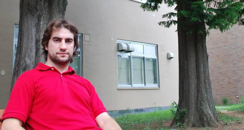 Alberto Castro en la Universidad de Tohoku (Japón). Foto: A. C.