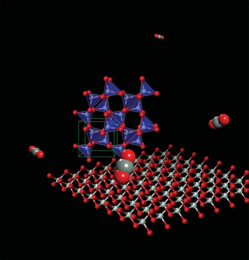 El dióxido de carbono forma materiales poliméricos bajo alta presión