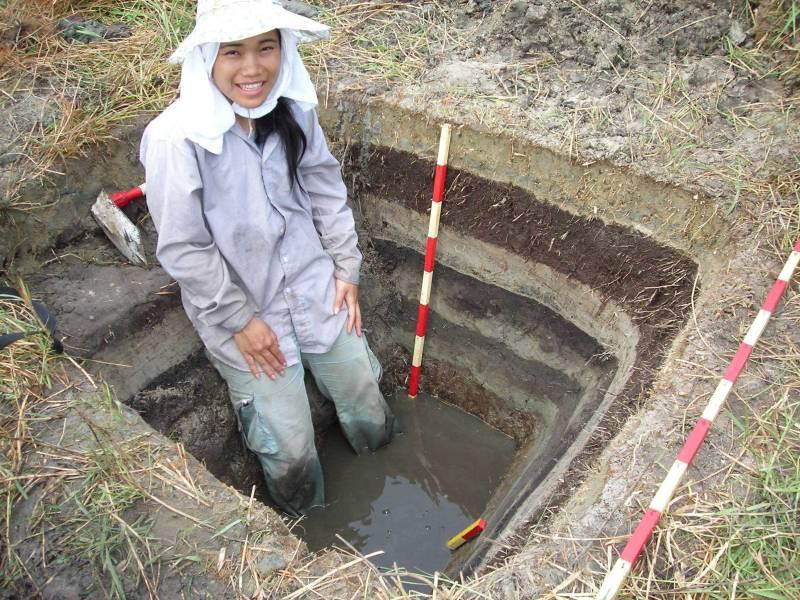 En la imagen, Kruawun Jankaew, que digirió al equipo de geólogos en una isla de Tailandia.