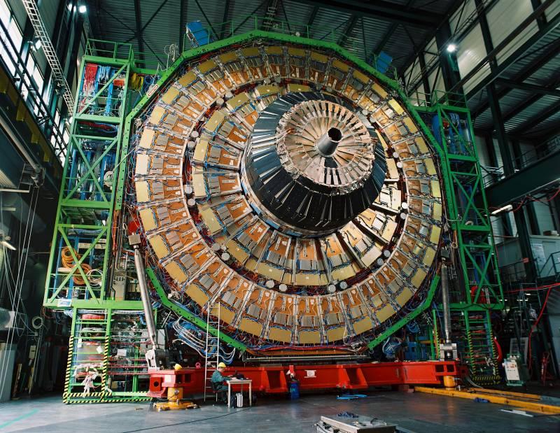 El detector CMS antes del cierre