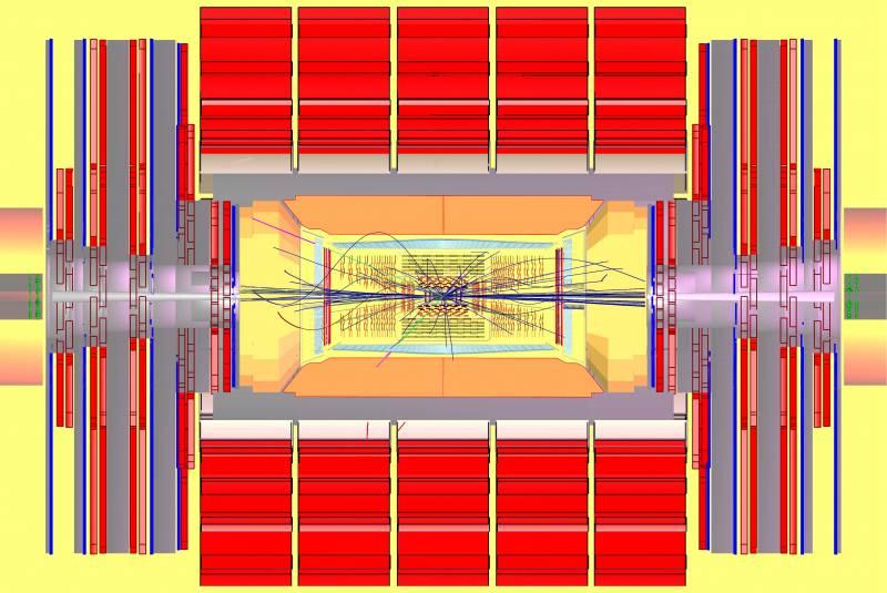 Simulación de la producción de la partícula de Higgs en CMS