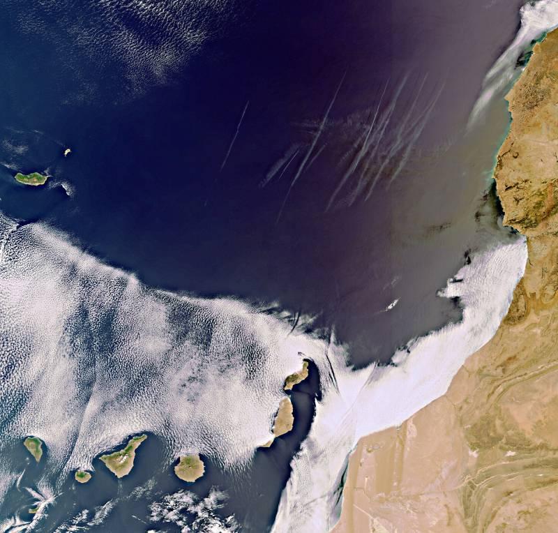 Los satélites vigilan las volcánicas islas Canarias