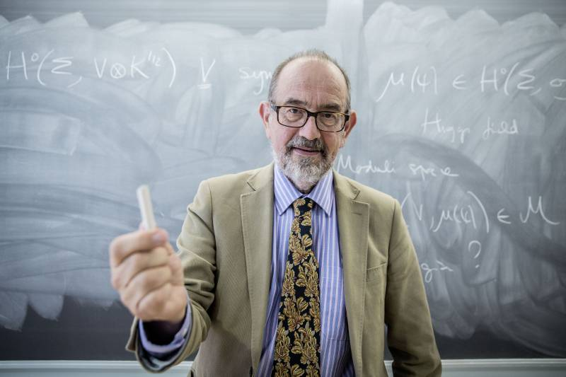 Nigel Hitchin en el el Instituto de Ciencias Matemáticas, en Madrid. / Olmo Calvo / SINC