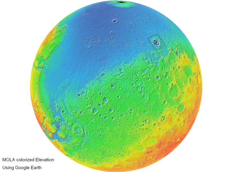 Nuevas pruebas de que el agua alteró la orografía de Marte