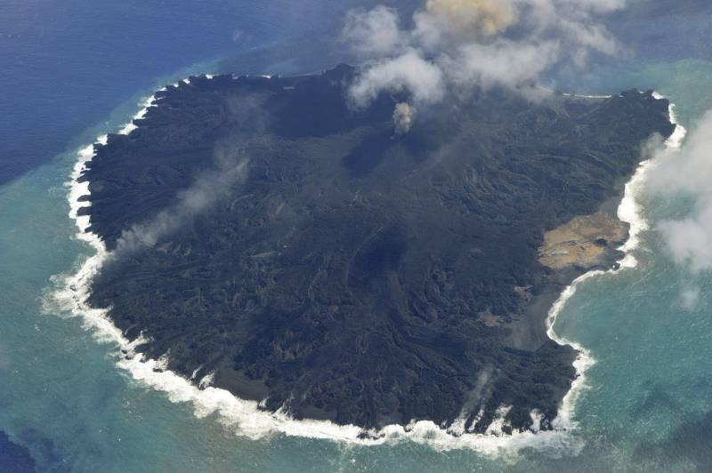 Isla de Nishinoshima, situada en el océano Pacífico a unos 1.000 kilómetros al sur de Tokio. Efe