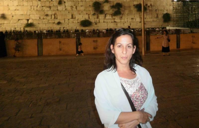 Beatriz Caballero en Jerusalén