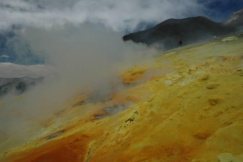 Volcán del macizo de Lastarria-Cordón del Azufre.