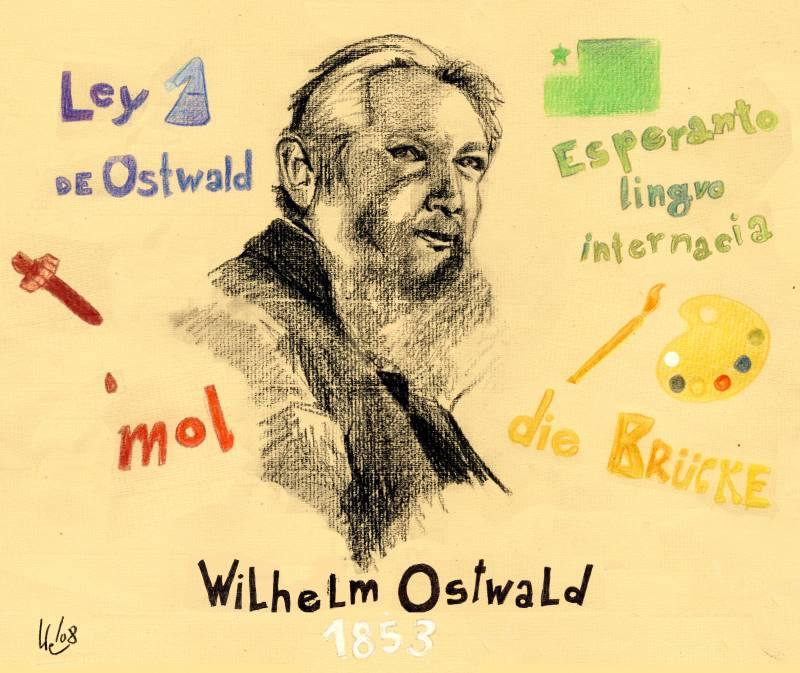 2 de septiembre 1953: Nace Wilhelm Ostwald, premio Nobel de Química en 1909, creador y filósofo alemán