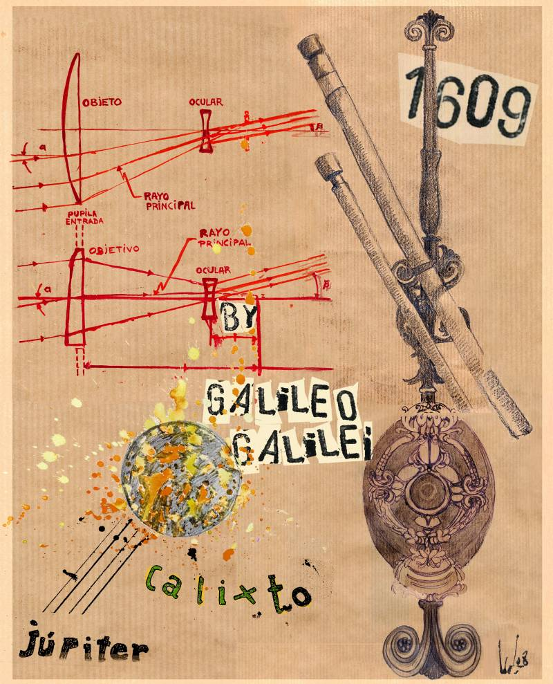 1610: Galileo Galilei descubre Calisto, el cuarto satélite de Júpiter