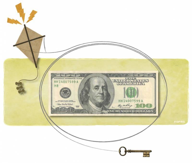Ilustración de Benjamín Franklin