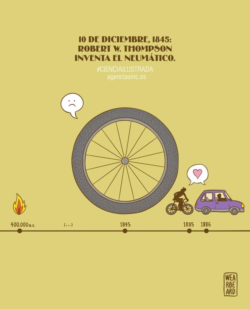 El neumático, un invento que se adelantó a su tiempo. /Sinc