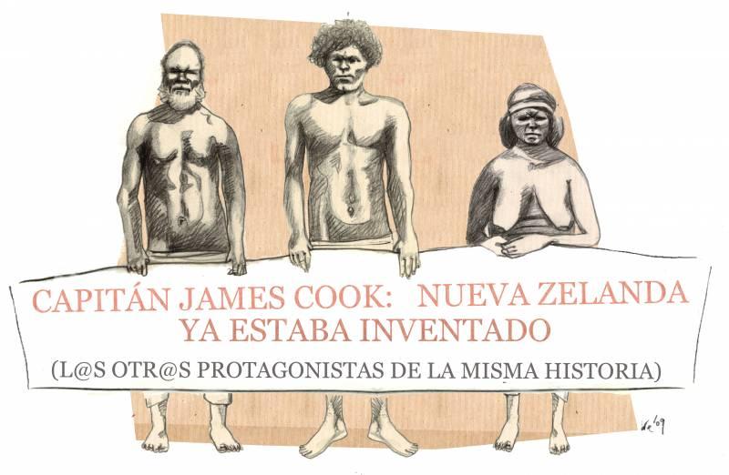 El 7 de octubre de 1769 James Cook llega a Nueva Zelanda