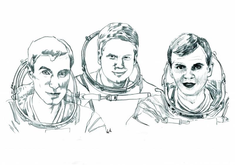 Hace diez años, la Estación Espacial Internacional recibía a sus primeros inquilinos: W. Shepherd (EE.UU.), S. Krikalev y Y. Gidzenko (Rusia)
