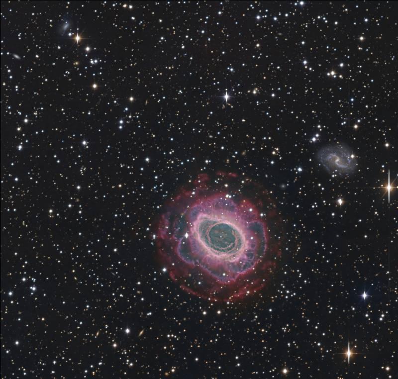 Imagen de la nebulosa Anular de la Lira