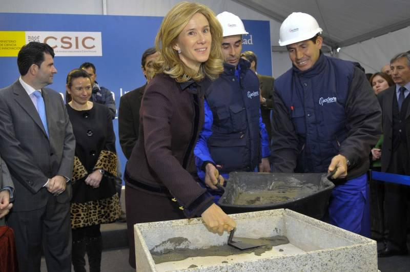 Colocan la primera piedra de la nueva sede del Instituto Cajal del CSIC