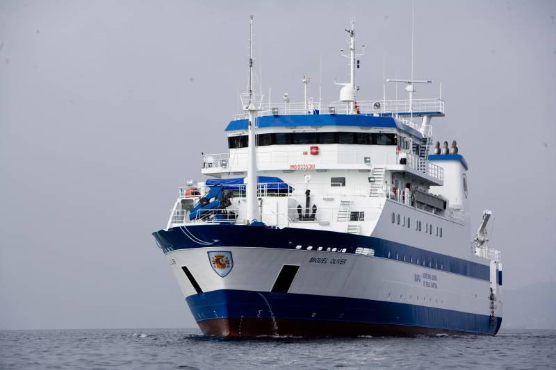 El buque 'Miguel Oliver' inicia su tercera campaña científica en Panamá