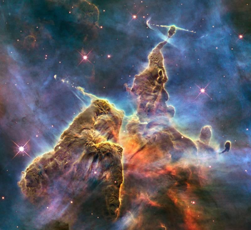 El Hubble celebra su 20º aniversario con un detalle espectacular de la Nebula Carina