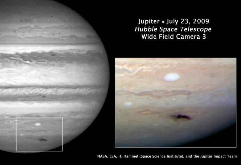 El Hubble sigue la evolución del impacto en Júpiter