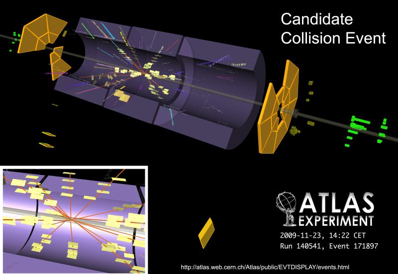 El LHC registra las primeras colisiones de partículas