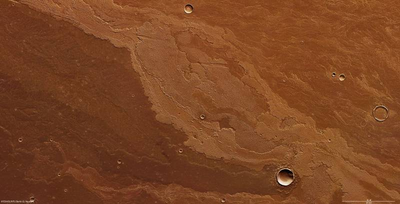 Flujos de lava en Daedalia Planum
