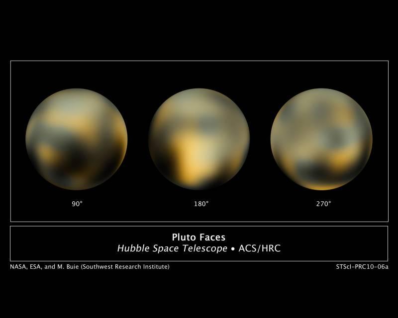 Hubble muestra cómo cambia la superficie de Plutón