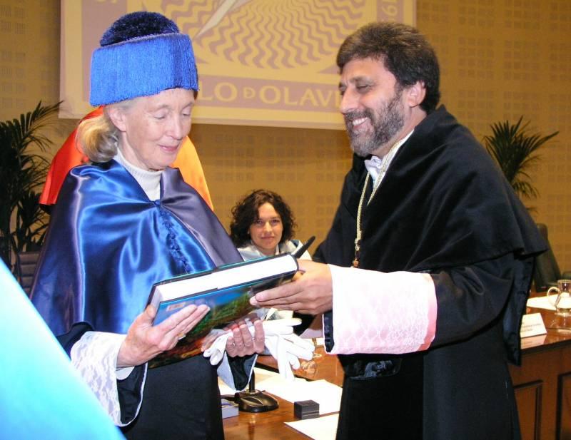 Jane Goodall, doctora Honoris Causa por la Universida Pablo Olavide de Sevilla