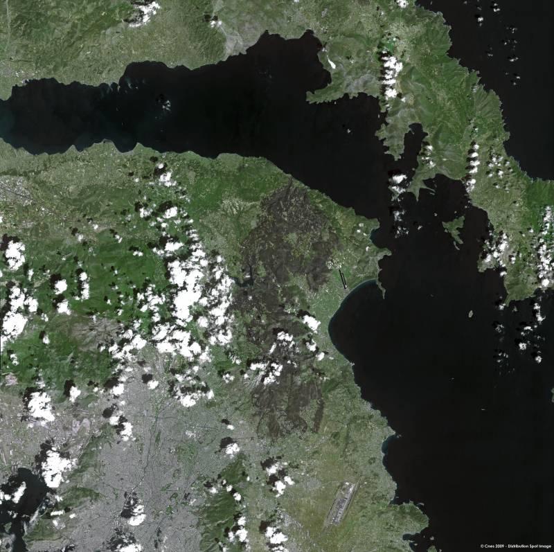 Obtienen una imagen en alta resolución de los incendios de Grecia