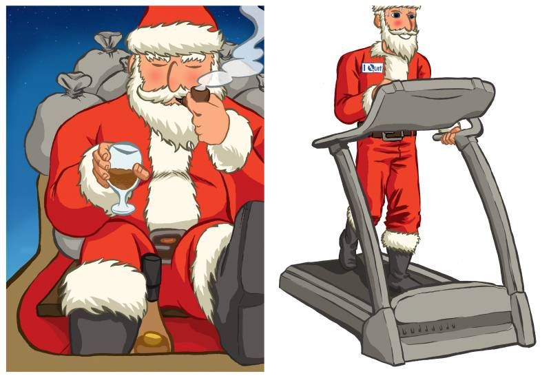Papá Noel es un mal ejemplo… para un estilo de vida saludable
