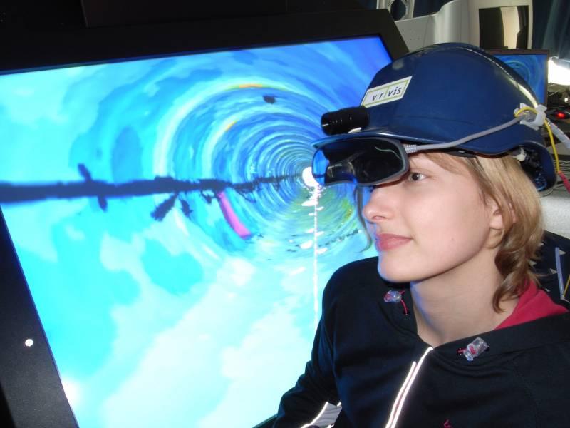 Gafas especiales a través de las cuales los ingenieros de túneles reciben información