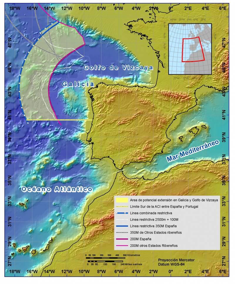 España presenta en la ONU la propuesta de ampliación de la soberanía española sobre los fondos marinos en Galicia